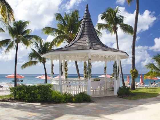 Beachfront wedding gazebo