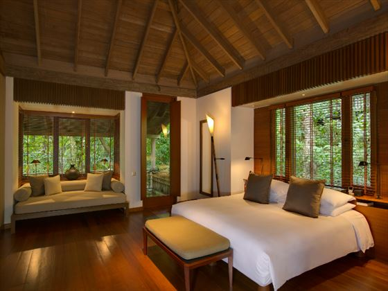 The Datai Pool Suite bedroom