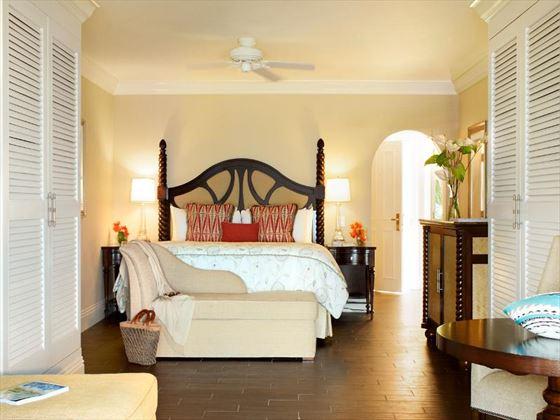 The Fairmont Royal Pavilion Beachfront Junior Suite bedroom