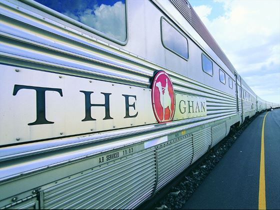 Exterior of The Ghan