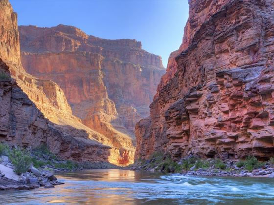 The Grand Canyon carved by the Colorado River