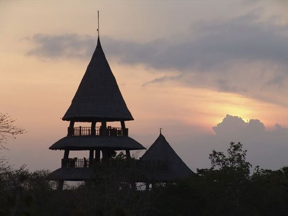 The Menjangan Resort  Bali Tower at Sunset