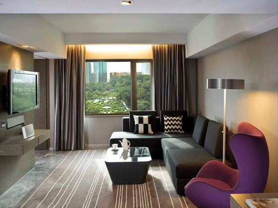 The Mira Hong Kong Kowloon living room
