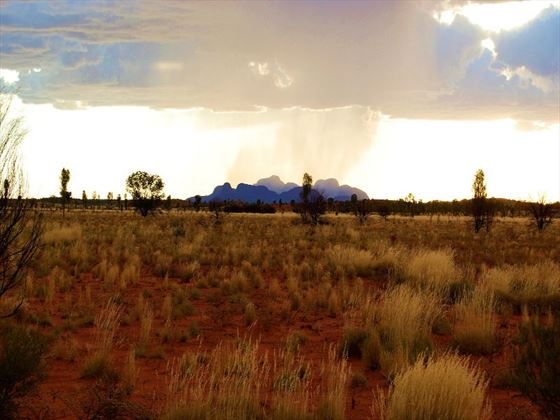The Olgas and surrounding landscape