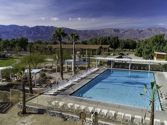 The pool at The Ranch at Death Valley