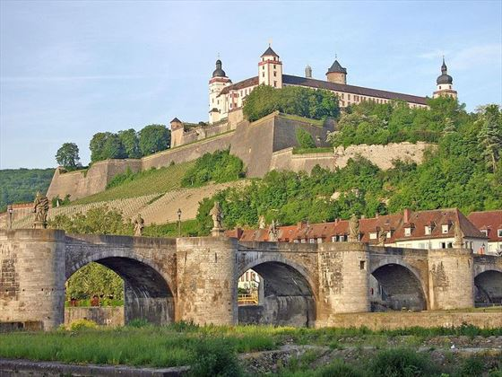 Wurzburg on the banks of the River Danube