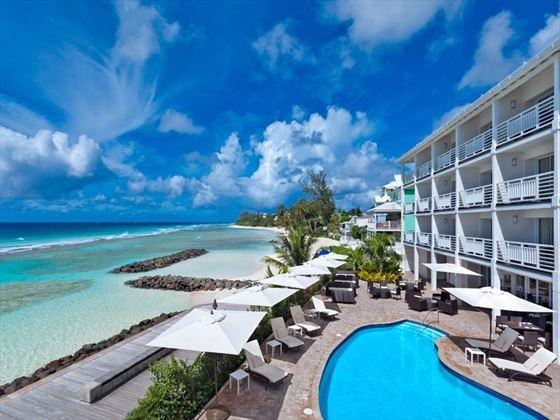 The SoCo Hotel pool deck
