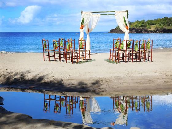 Gorgeous beach setting at Ti Kaye Resort & Spa