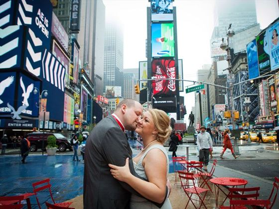The happy couple in New York