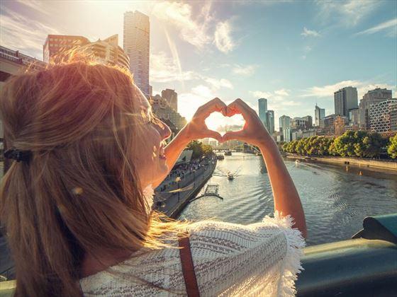 Tourist loving Melbourne