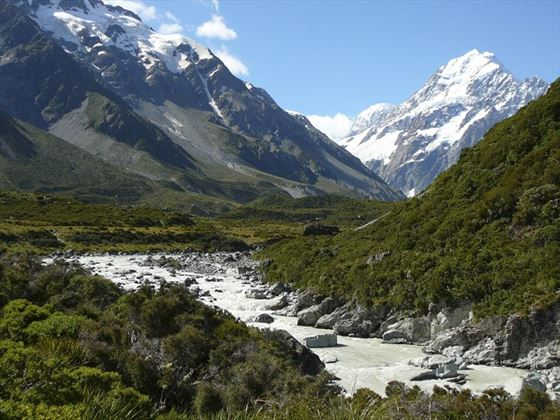 Towering peak of Mt Cook
