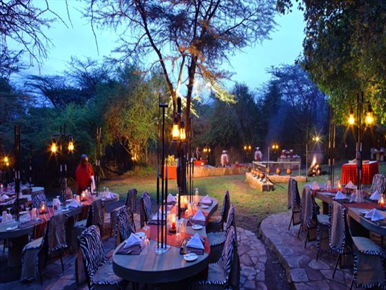 Traditional boma dinner at Mara Sarova