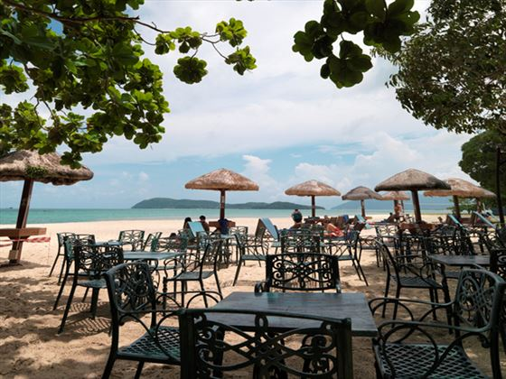 Tropical beach bar at Holiday Villa Beach Resort & Spa Langkawi