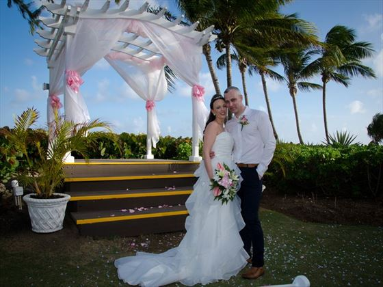 Bride & Groom at Turtle Beach