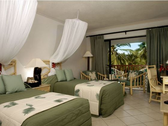 Twin bedroom at Diani Reef Beach Resort and Spa