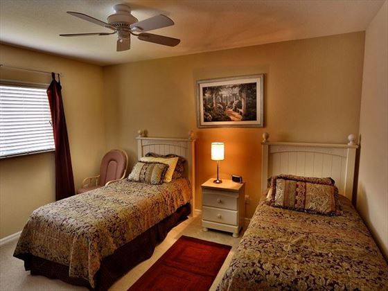 Twin room at Fort Myers Area Pool Homes