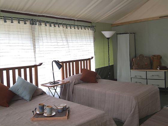 Twin tent at Porini Lion Camp