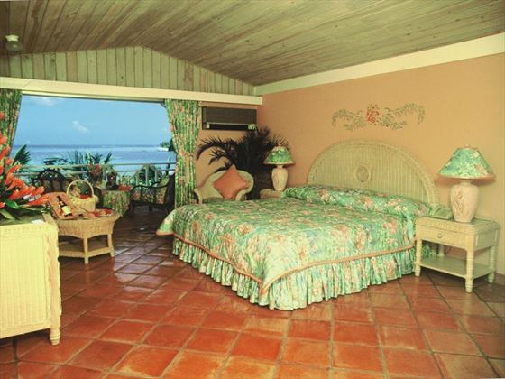 Typical bedroom at Coco Reef Resort