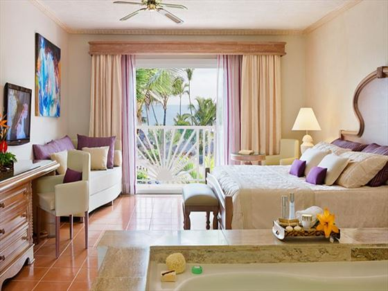 Typical bedroom at Excellence Punta Cana