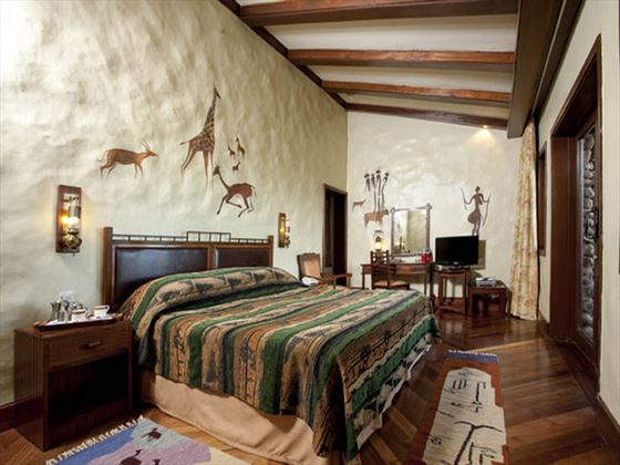 Typical bedroom at Ngorongoro Serena Safari Lodge