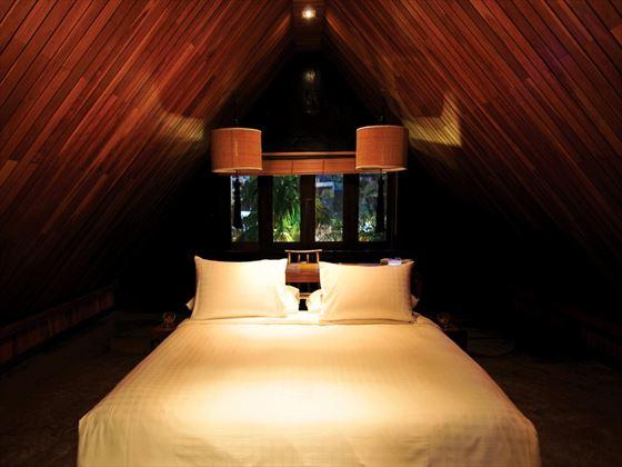 Typical bedroom at Villa Samadhi