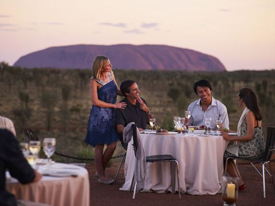 Gourmet dining at Uluru