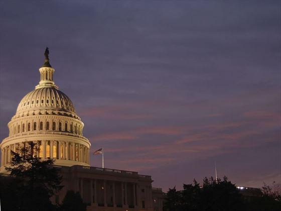 US Capitol at dawn