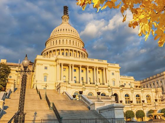 US Capitol in the fall, Washington D.C.