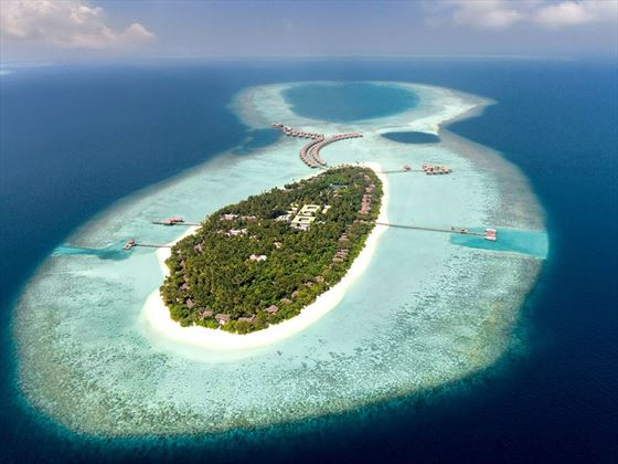 Aerial view of Vakkaru Maldives