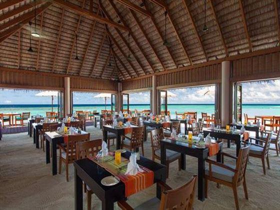 Inside Dhonveli restaurant
