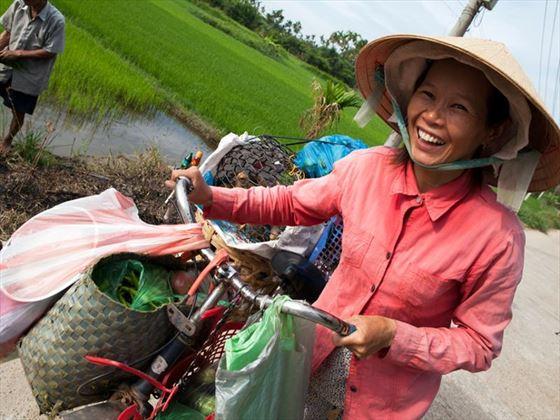 Local cyclist, Hoi An