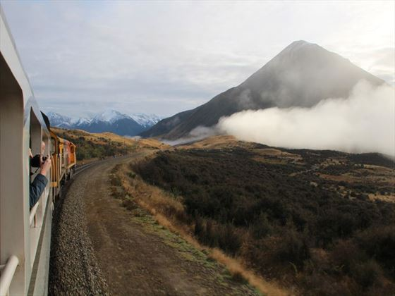 View from the Tranz Alpine train