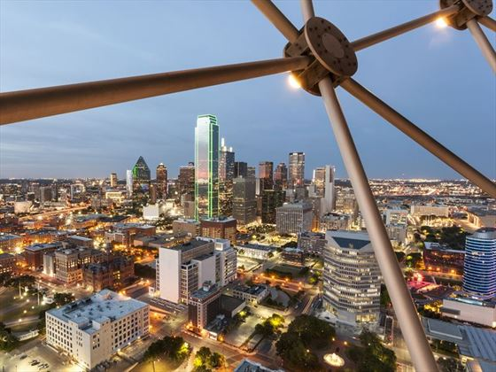 View of Downtown Dallas at night