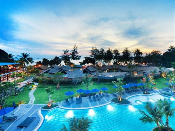 View of Holiday Inn Resort, Krabi at night