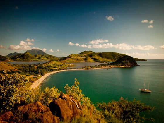 View of the island of St Kitts