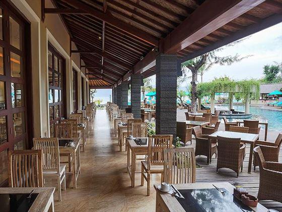Restaurant at Vila Ombak, Gili Trawangan, Lombok