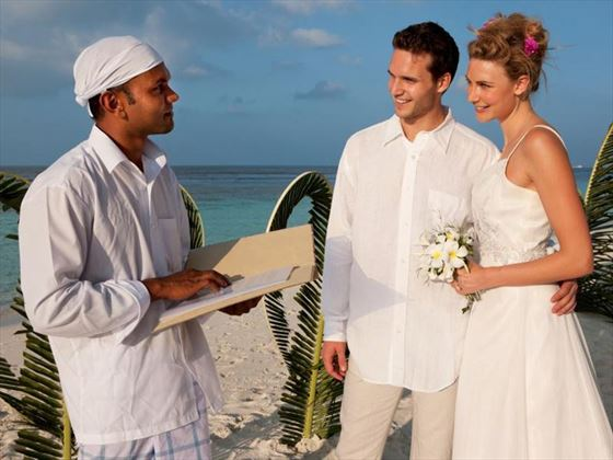 Renewing vows on Vilamendhoo Island Resort & Spa