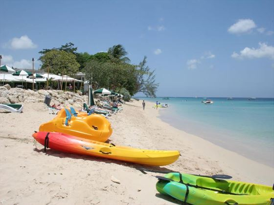 Water sport activities at Mango Bay