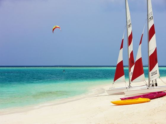 Make the most of your surroundings with exhilarating watersports and activities in the Maldives