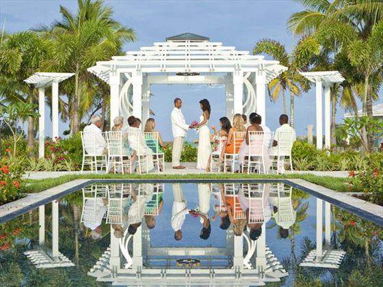 Wedding ceremony at Sandals Emerald Bay