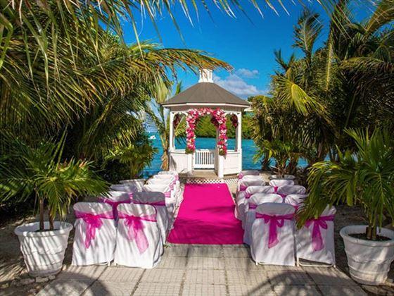 Decorated wedding venue at The Verandah Resort & Spa
