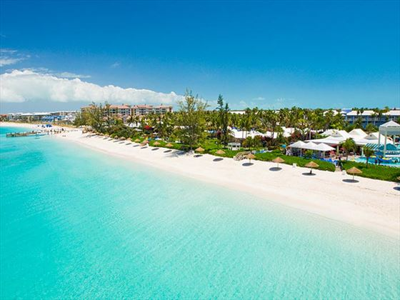 White-sand coastline at Beaches Turks and Caicos