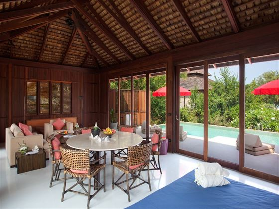 YaiYa Boutique Resort in-room dining area