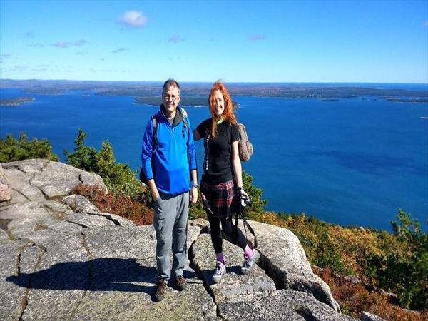 sarah railton and precipice hike acadia