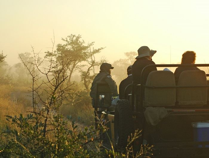 Mike Collins game drive in South Africa