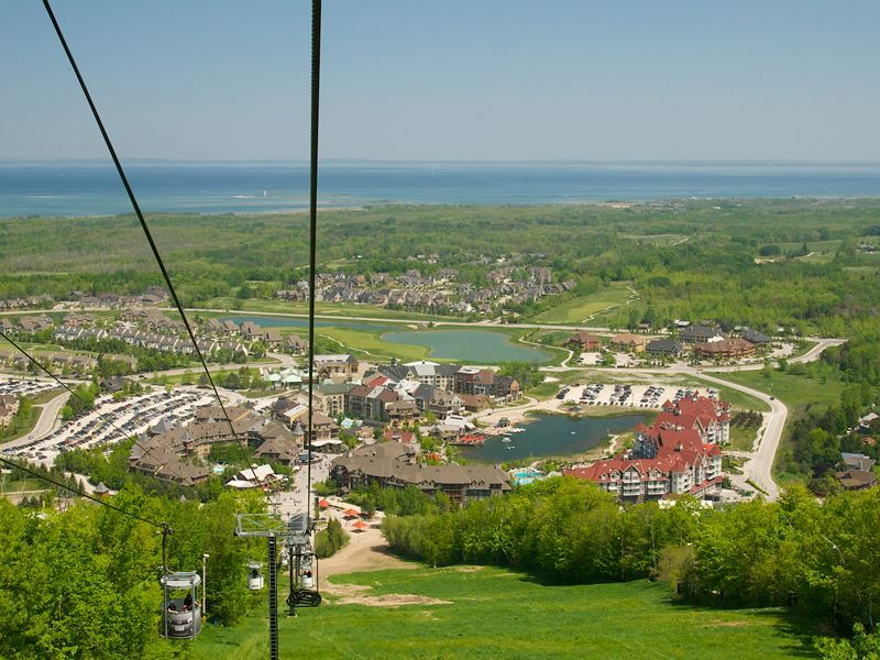 Aerial view of Blue Mountain Resort
