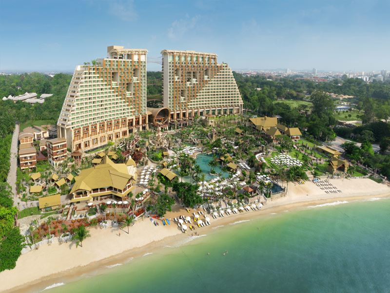 Aerial view of Centara Grand Mirage Beach Resort Pattaya