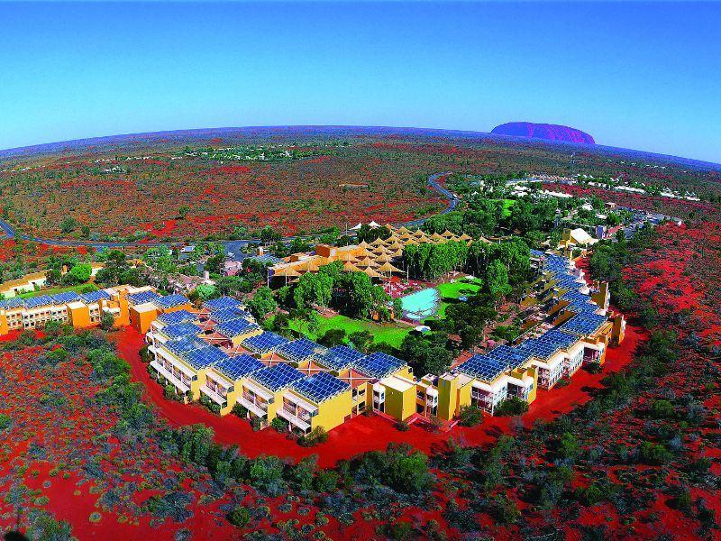 aerial view of desert gardens hotel