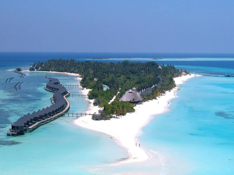 aerial view of kuredu island resort