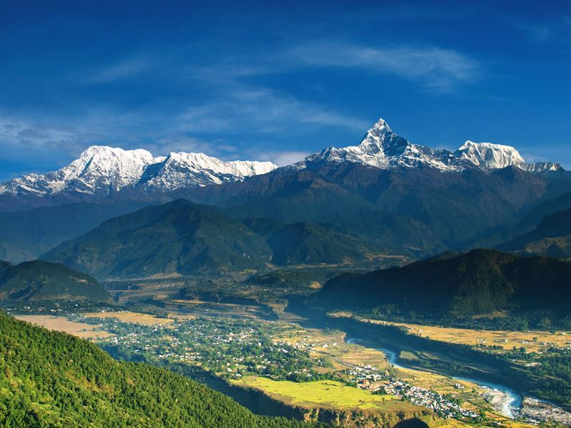 annapurna massif viewed from sarangkot nepal